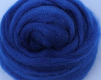 SAPPHIRE BLUE - Merino Wool Roving 1/4oz, 1/2oz or 1oz
