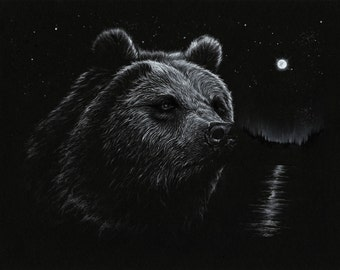 Alaskan Bear 11 by 14 Art Print