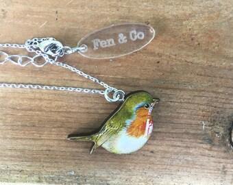 Robin necklace, Robin accessory, Robins, Christmas gifts, Christmas, Xmas, bird, Christmas presents,  Robin gifts, Robin bird