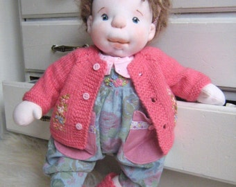 """CLARA 18""""Doll, Soft Doll, Waldorf Inspired Doll, Baby Girl Doll, Handmade OOAK Doll, Fabric Doll, Girl Gifts, Cloth, Collectible Doll, DIANA"""