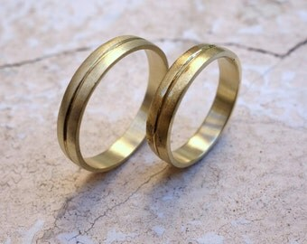 For Her - For Him His and Hers Wedding Bands Promise Rings Wedding Band Set Unique Wedding Bands Matching Wedding Rings Mans wedding Bands