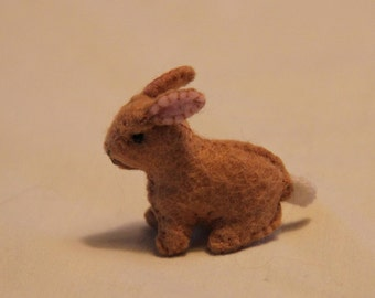 Little  felt bunny made to order
