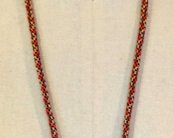 African Bead Kumihimo Necklace