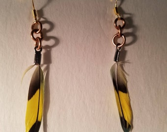 Yellow Parakeet Earrings