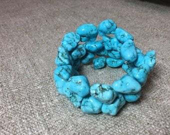 Fake Sleeping Beauty Mine turquoise bracelet