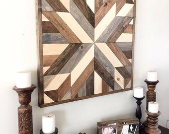 Reclaimed wood wall art, wood art, rustic wall decor, farmhouse decor, modern wall decor, wooden decor, barn wood decor, reclaimed wood