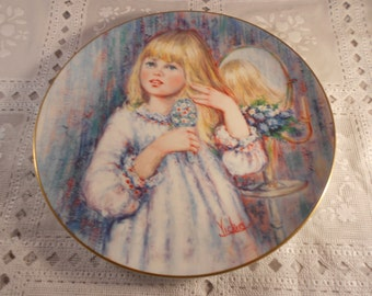 """Wedgewood Bone China Collectible Plate by Mary Vickers """"DAY DREAM""""The Blossoming of Suzanne"""""""
