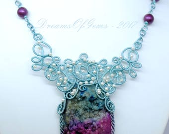 Unsettled Waves Statement Necklace