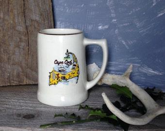 Vintage Retro Cape Cod Souvenir Coffee / Beer Mug, Cape Cod Souvenir Mug