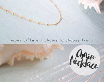 Simple Chain Necklace - Delicate Sparkly Chain Layering Necklace - Minimalistic Simple Plain Chain Necklace - Finished Chain Necklace Only