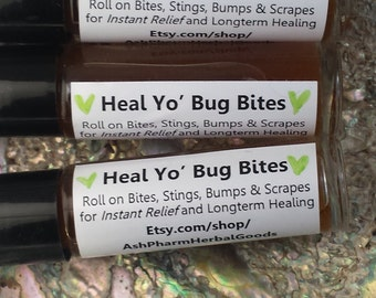 Heal Yo' Bug Bites. Roll-on Bites, Stings, Scrapes for Instant Relief from Itching and Long-term Healing. Chapparal. Tea Tree. Lavender.Love