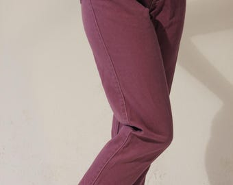 Petite Jeans High Waist Purple Jeans Petite Vintage Jeans Extra Small Purple Jeans Vintage 80s Light Purple High Waist Jeans Vintage Denim