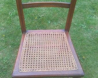 Edwardian Rattern ware chair in oak