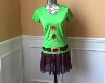 Dopey Running Complete Outfit /Skirt/Performance Top / Costume Halloween
