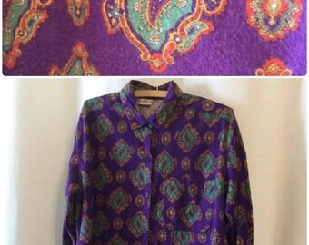 Palmetto's Purple Paisley Flannel