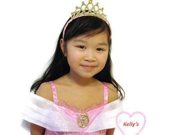 Princess headband, Aurora princess headband, Rapunzel princess tiara, Elena of Avalor crown, glitter crown,pink crown, gold princess crown