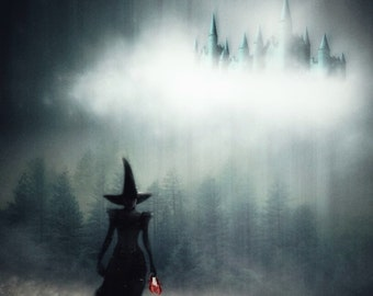 Witch Art, Witch Print, Halloween Art, Wall Art, Witch Gift, Photo Prints, Gothic Art, Creepy Art, Fairytale Art, Wizard Of Oz, Wicked Witch