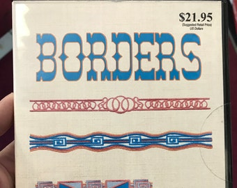 12 Borders machine embroidery designs on CDROM by EZSewDesigns - SALE