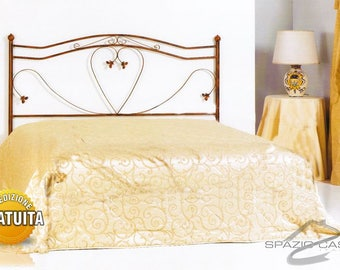 Handcrafted wrought iron bed headboard head/Heart