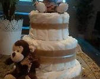 Nappy Cake - 3 tier - great gift for new baby or baby shower