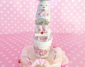 Valentines Poodle Fancy Figurine Hearts Rhinestone Vintage Art Assemblage