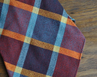 1930s 1940s Wool Scottish tie Huntleigh heathers theater movies costume menswear