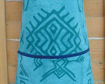 NEW! African Print Apron, Afro Pinny In Tribal Print, African Print Apron, African Inspired Kitchen by Afrocentric805