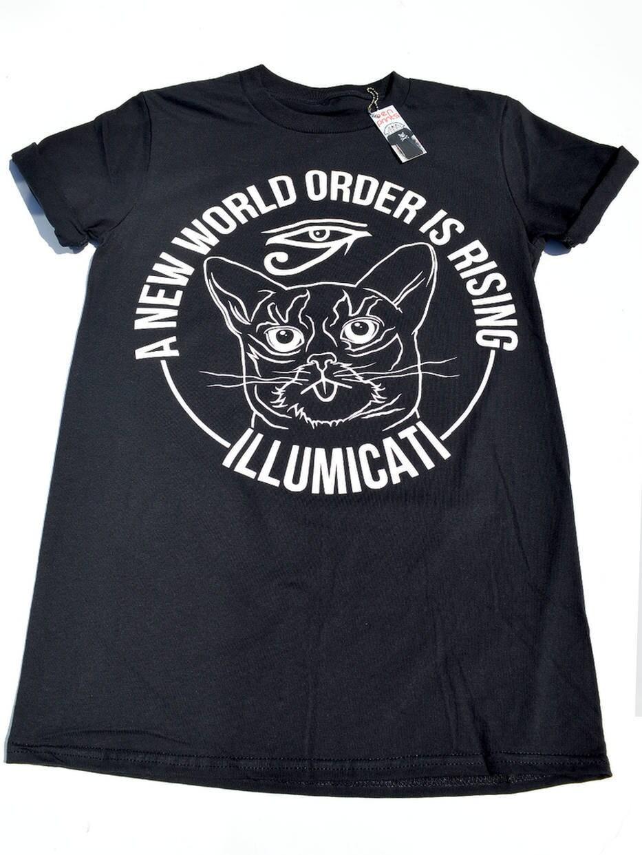 Illumicati Cat Shirts Space Cat Shirt T shirt Mens Cat