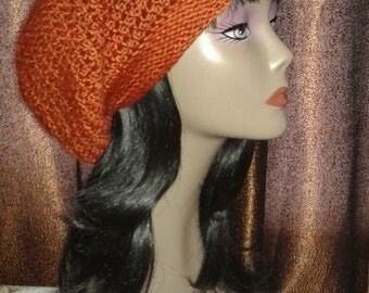 Slouchy Crocheted Beanie Hats
