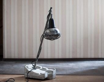 Brutalist floor and desk lamp, industrial floor lamp, industrial lighting, modern floor lamp, concrete lamp, brutalist lamp, unique lamp