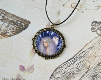 Blodeuwedd Pendant - Necklace