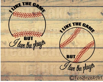 I like the game but I love the player Baseball Monogram Digital Cutting File SVG PNG EPS Instant Download iron on heat transfer decal 600C