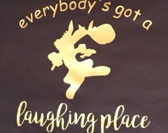 """Brer Rabbit """"Everybody's Got A Laughing Place"""" Iron On Decal DISNEY Song of the South"""