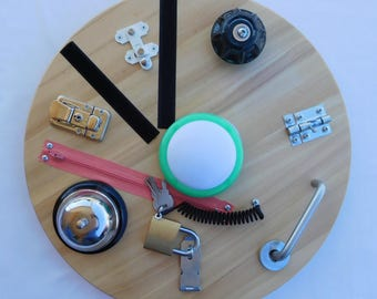 Wooden Activity Board, Sensory Board, Busy Board, Tactile Board, Fidget Board, Autism Board, Montessori Inspired