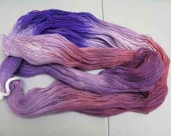 hand dyed Sock Yarn Maniac  limited quantity 75/25 % wool nylon superwash 100 grams 462 yards