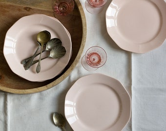 French Delicate Pink Plates - set of 4