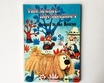 Vintage Magic Roundabout Book, Dougal to the Rescue, from BBC TV Series, Odhams Books, 1968, 01317