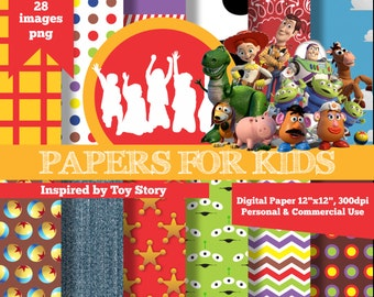 Digital Papers, Toy Story, Kids, Background, Clipart, Papers for Kids