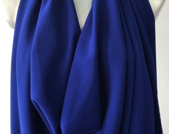 Cobalt blue stretch crepe fabric 2 way stretch textured polyester spandex 150cm 60 inches