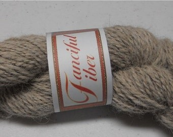 Handspun 100%  Llama Yarn 2 Ply Beige Light Tan (2)