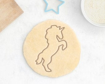 Unicorn Cookie Cutter - Animal Cookie Cutter Mustang Cute Kawaii Little Pony Princess Girl Birthday Cookie Cutter - 3D Printed