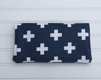 Diaper Clutch - Diaper Bag - Blue Diaper Caddy