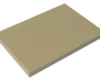 """5-1/2"""" x 7-3/16"""" Large Ceramic Honeycomb Soldering Board Non-Asbestos Heat-Reflective Jewelry Repair Making Work Surface - SOL-450.00"""