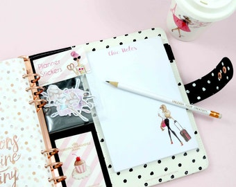 Fashion Illustration Notepad, Chic notepad, fashion stationery, fashion sketch notepad by Josefina Fernandez