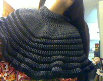 Crochet Capelet with hat