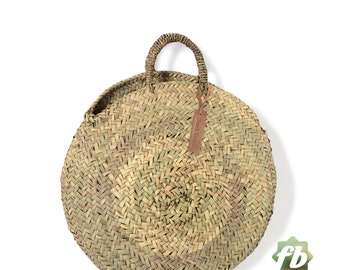 Round French baskets chubby Medium :  Moroccan Basket, straw bag, french market basket straw bag,Straw Tote,Large Basket,natural baskets