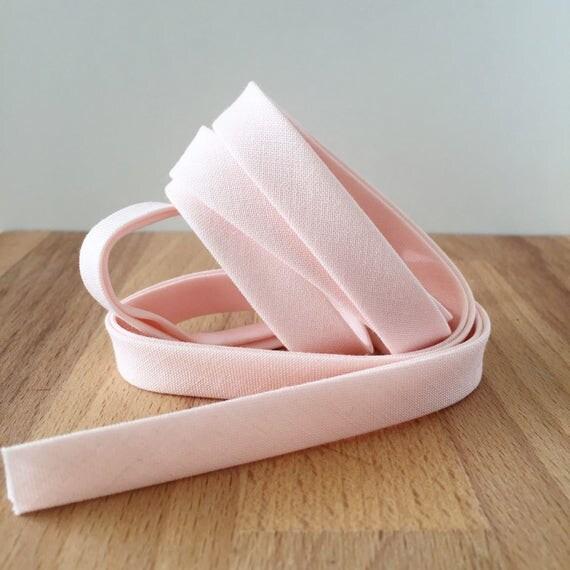 "Bias Tape in Kona Shell cotton 1/2"" double-fold binding- Ballet tights pink- Pale Flesh- 3 yard roll"
