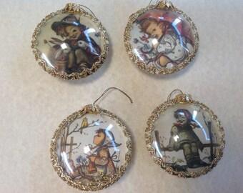 Vintage Hummel ornaments ( set)