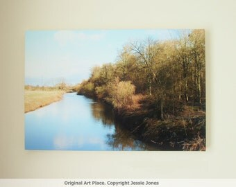 Large Photo Canvas, 'River At Attingham Park' by Jessie Jones. 24 x 16 inches.