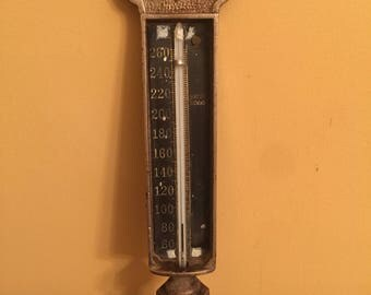 Vintage Fence Post Thermometer/Vintage Weather Thermometer/Vintage Metal Thermometer/Weather Gauge